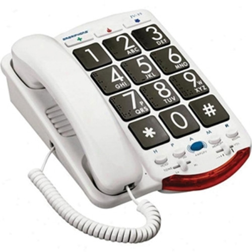 Easy to Use Jumbo Button Amplified Corded Telephone for Mild to Moderate Hearing Loss - Clarity Model JV35