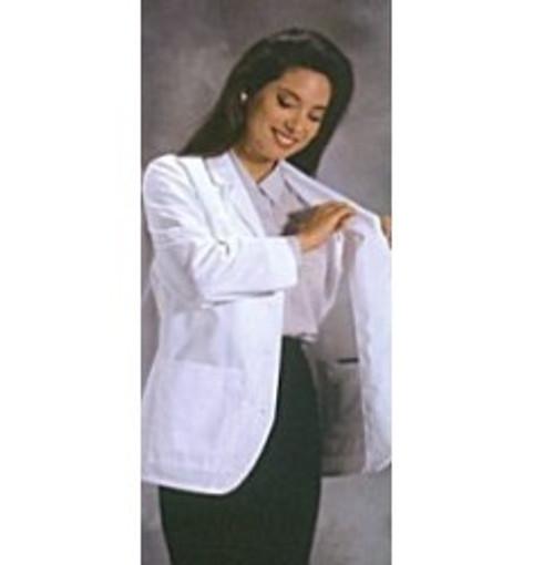 "Women's Consultation Jacket - White Color - 28"" length"
