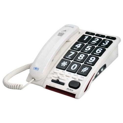 Jumbo Button Amplified Corded Telephone for Mild to Moderate Hearing Loss - Serene Innovations Model HD50JV