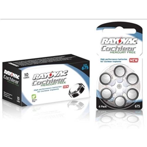 Rayovac Cochlear Mercury-Free Batteries 60-Box