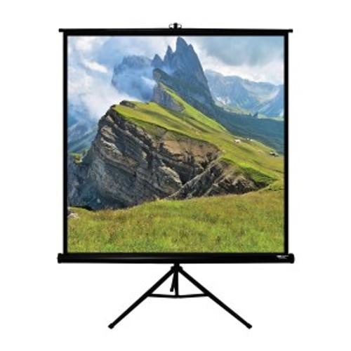 """HamiltonBuhl 85"""" Diag. (60x60) Tripod Projector Screen, Square Format, Matte White Fabric - Black"""