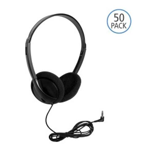 HamiltonBuhl Personal Economical Headphones, 50 Pack
