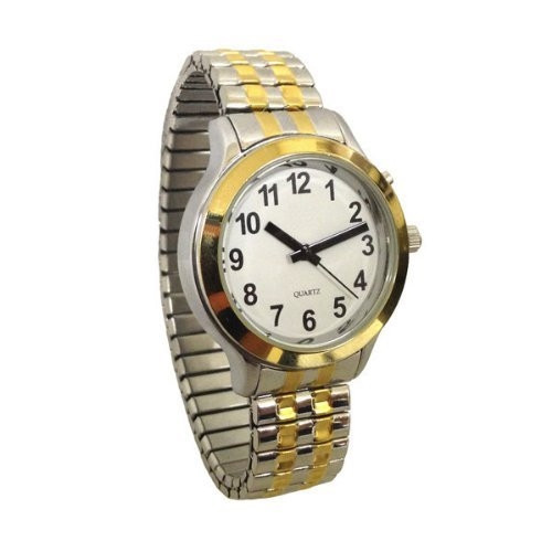 Mens Talking Two Tone Watch