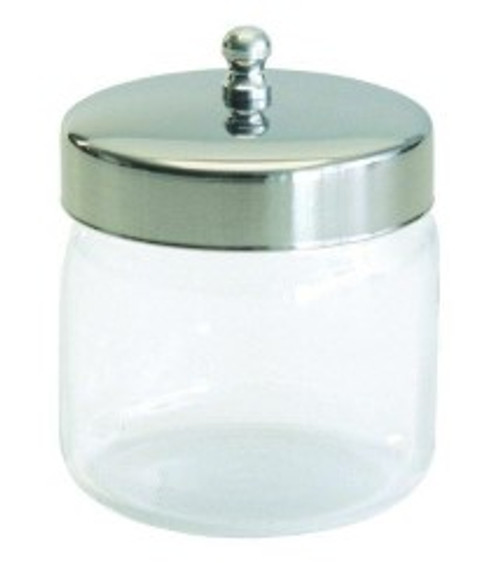 Glass Jar with Stainless Steel Lid - 6in x 6in