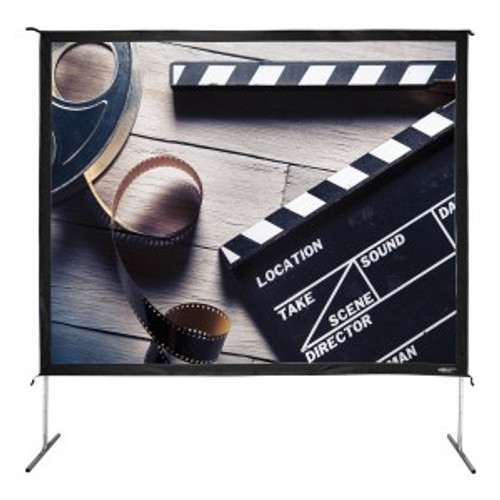 """HamiltonBuhl 150"""" Diag. (90x120) Folding Frame Screen with Case, Video Format, Matte White Fabric"""
