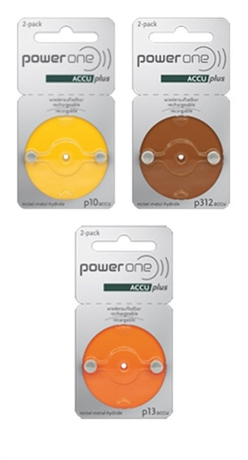 Power One ACCU Rechargeable - 1 card of 2 Batteries