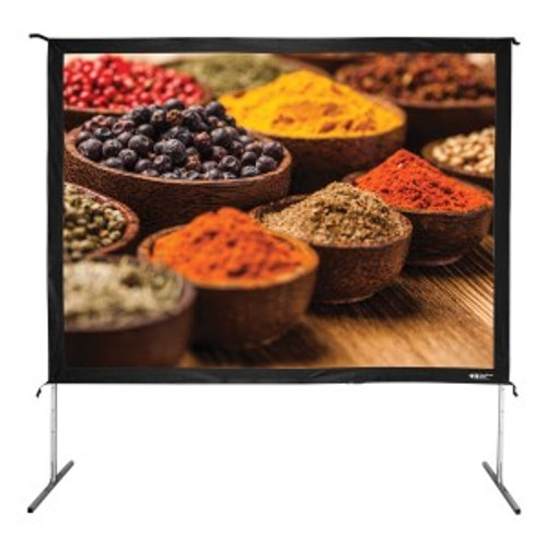 "HamiltonBuhl 120"" Diag. (72x96) Folding Frame Screen with Case, Video Format, Matte White Fabric"