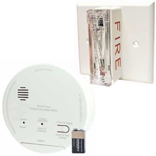 Gentex GN-503FF Hard Wired T3 Smoke-T4 Carbon Monoxide Photoelectric Alarm with Ceiling Strobe