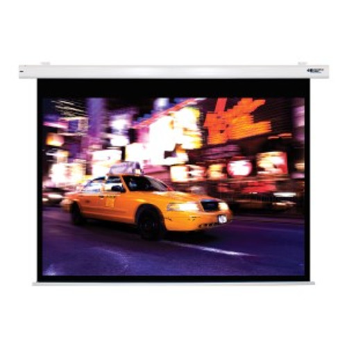 """HamiltonBuhl 100"""" Diag. (60x80) Electric Projector Screen, Video Format, Matte White Fabric"""