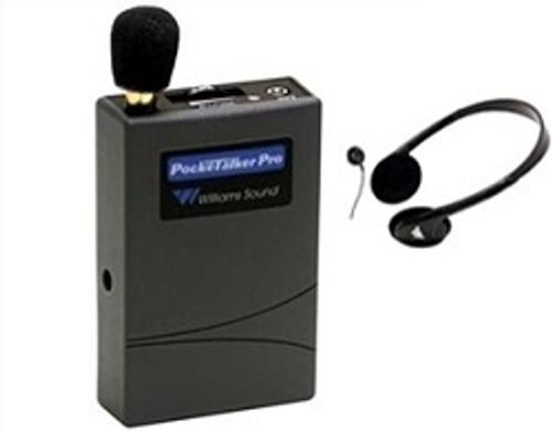 Williams Sound PockeTalker Pro Personal Sound Amplifier  -  Includes Headphones or Earphone Accessory