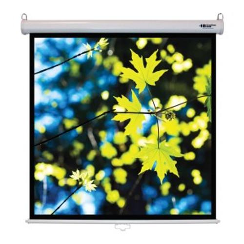 "HamiltonBuhl 71"" Diag. (50x50) Manual Pull Down Projector Screen, Square Format, Matte White Fabric"