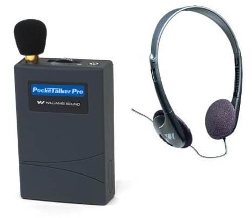 Williams Sound PockeTalker Pro Amplifier PKTPRO1-H21 with Deluxe Folding Headphones HED021