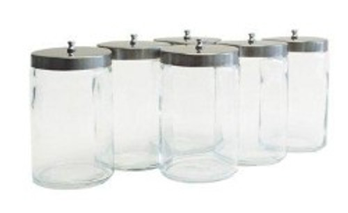 Glass Jar with Stainless Steel Lid - 7in x 4.25in
