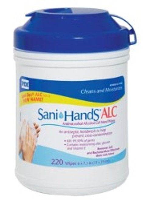 Sani Hands ALC Antimicrobial Disposable Hand Wipes - 220 Wipes