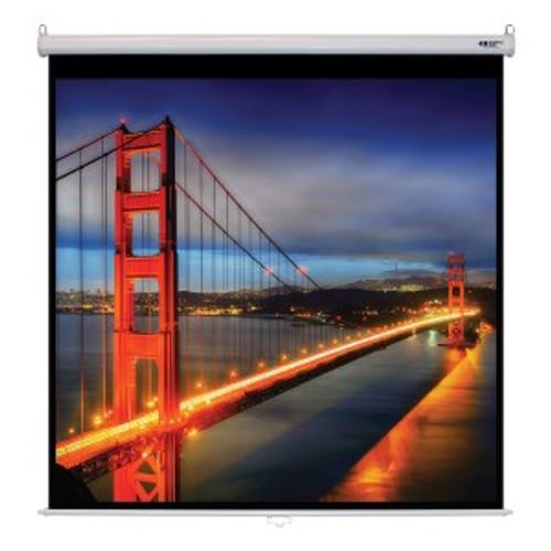 "HamiltonBuhl 113"" Diag. (80x80) Manual Pull Down Projector Screen, Square Format, Matte White Fabric"