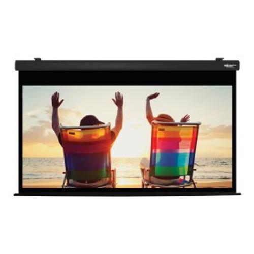 "HamiltonBuhl 100"" Diag. (49x87) Electric Projector Screen, HDTV Format, Matte White Fabric - Black"
