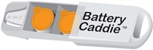 THE BATTERY CADDIE Hearing Aid Battery Case with Keychain - Model 2166