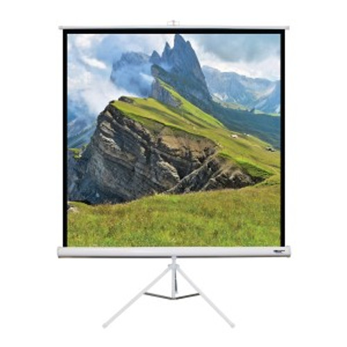 """HamiltonBuhl 85"""" Diag. (60x60) Tripod Projector Screen, Square Format, Matte White Fabric"""