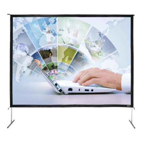 "HamiltonBuhl 200"" Diag. (120x160) Folding Frame Screen with Case, Video Format, Matte White Fabric"