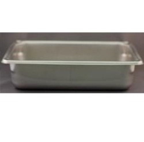 "Stainless Steel No Lid Soaking Tray - 6 3/8in x 10 3/8in x 2 1/2"" Tray"