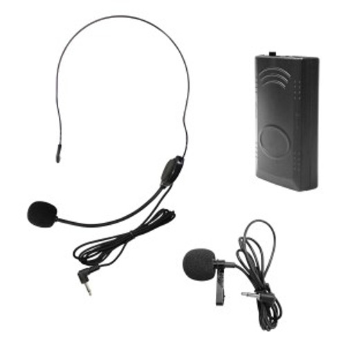 HamiltonBuhl Venu100 Belt Pack w/ lapel mic and head worn mic Frequency 214.5