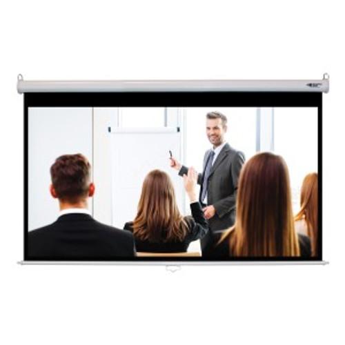 "HamiltonBuhl 100"" Diag. (49x87) Manual Projector Screen, HDTV Format, Matte White Fabric"