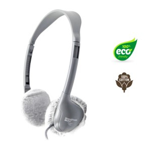 """HygenX 100% Cotton Sanitary Ear Cushion Covers (2.5"""" White, 50 Pairs) - For On-Ear Headphones & Headsets"""