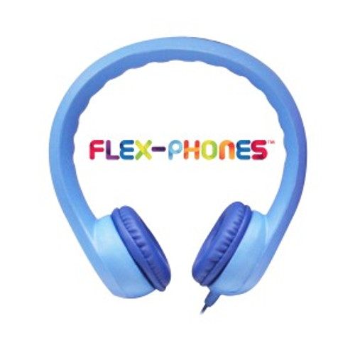 HamiltonBuhl Flex-Phones, Foam Headphones, Blue