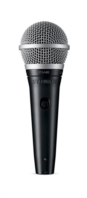 Shure PGA48-QTR Cardioid Dynamic Vocal Microphone with 15' XLR-QTR Cable