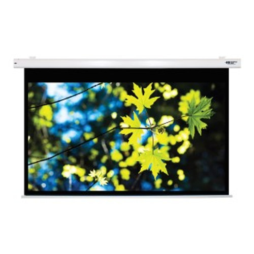 """HamiltonBuhl 100"""" Diag. (53x85) Electric Projector Screen, 16:10 PC Format, Matte White Fabric"""