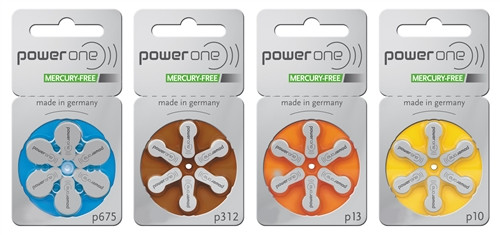 Power One Mercury Free - 1 Card of 6 Batteries
