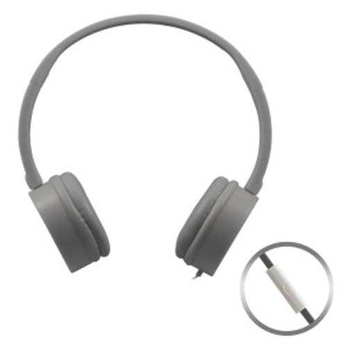 HamiltonBuhl Gray KidzPhonz Headset with In-Line Microphone