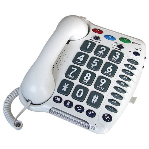 Big Button Amplified Corded Telephone for Mild to Moderate Hearing Loss - Geemarc Model AMPLI200