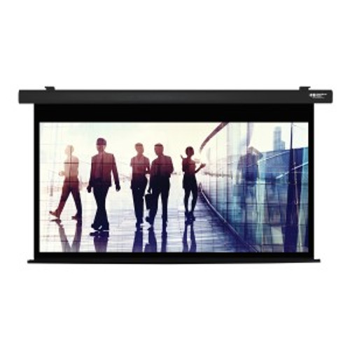 "HamiltonBuhl 92"" Diag. (45x80) Electric Projector Screen, HDTV Format, Matte White Fabric - Black"