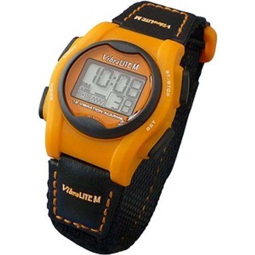 VibraLITE MINI Vibrating Children Size Watch - Black/Orange