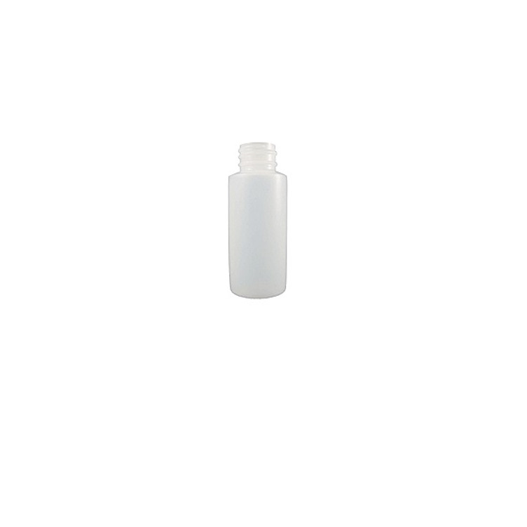 Empty HDPE Natural Plastic Bottles, Cylinder Round (Screw Caps Included)