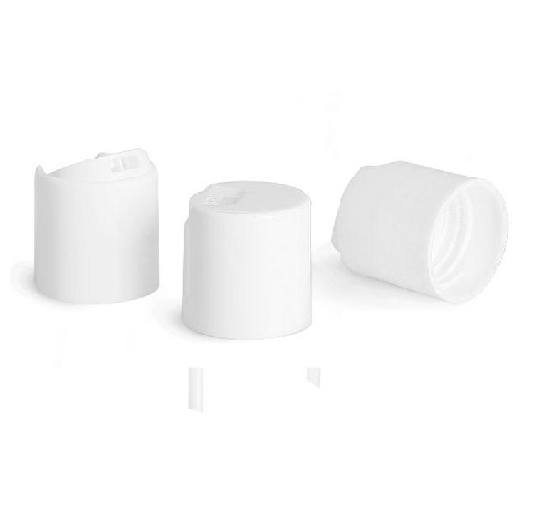 White Smooth Plastic Disc Flip Cap