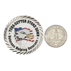 1.625 Inch Challenge Coin Compared to Quarter
