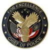 Chief of police custom challenge coin