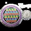 2.5 inch custom challenge coin vs quarters.