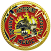 Custom north point fire challenge coin