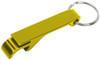 Yellow custom keychain wrench style bottle opener.