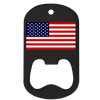 American flag black color printed middle slot bottle opener. Custom bottle opener.