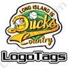 Long Island Ducks custom baseball patch. 3 colors custom embroidery baseball patches.