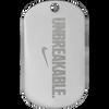 Unbreakable nickel plated nike diamond engraved custom dog tag.