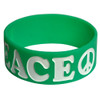 Wide embossed silicone wristband