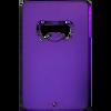 Purple aluminum credit card bottle opener