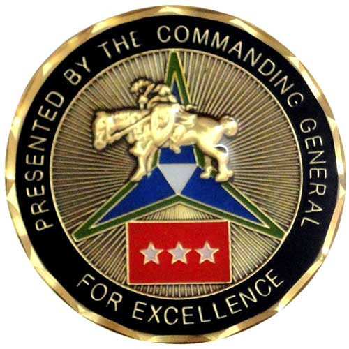 Three star general custom challenge coin.