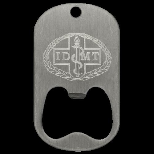 diamond engraved dog tag bottle opener custom logotags
