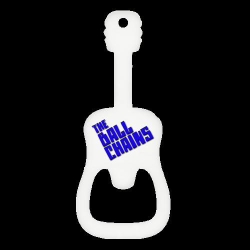 Custom guitar bottle opener white